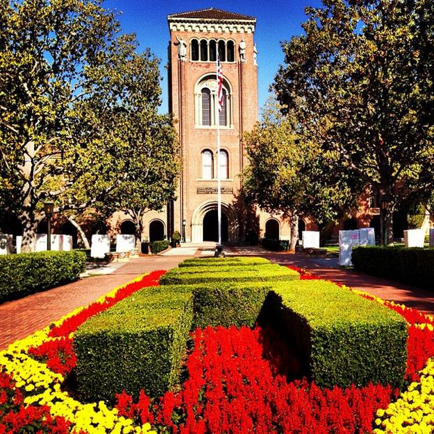 USC garden on campus