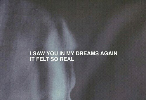 I saw you in my dreams